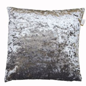 "SHIMMERY STEEL GREY CRUSHED VELVET LARGE 24""  CUSHION COVER£9.99 FREE POSTAGE"
